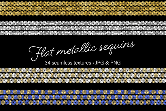 Print on Demand: Flat Metallic Sequins Graphic Textures By JulieCampbellDesigns