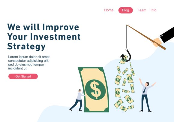 Flat Design Web Page Templates of Finance, Business Success, Investment. Web Design Modern Graphic Landing Page Templates By DEEMKA STUDIO - Image 1