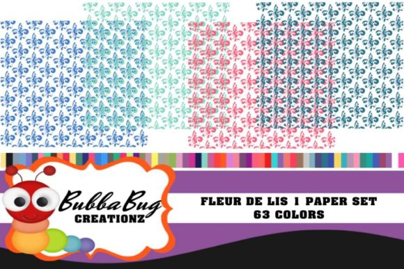 Fleur De Lis Paper Set Graphic Patterns By BUBBABUG