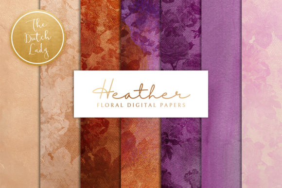 Print on Demand: Floral Backgrounds Heather Graphic Patterns By daphnepopuliers