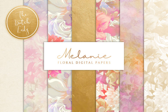 Print on Demand: Floral Backgrounds & Paper Designs Graphic Patterns By daphnepopuliers