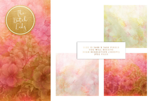 Print on Demand: Floral Backgrounds Jennifer Graphic Patterns By daphnepopuliers - Image 3