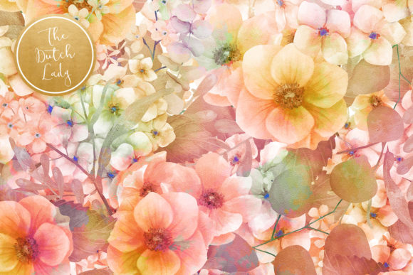 Print on Demand: Floral Backgrounds Jennifer Graphic Patterns By daphnepopuliers - Image 4