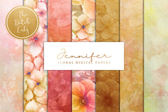 Print on Demand: Floral Backgrounds Jennifer Graphic Patterns By daphnepopuliers