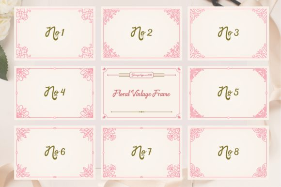 Download Free Floral Vintage Frame Graphic By Strangerstudio Creative Fabrica for Cricut Explore, Silhouette and other cutting machines.