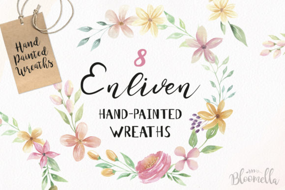 Floral Wreath 8 Clipart Watercolour Wedding Flowers Graphic Illustrations By Bloomella