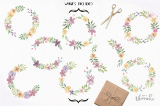 Floral Wreath 8 Clipart Watercolour Graphic By Bloomella