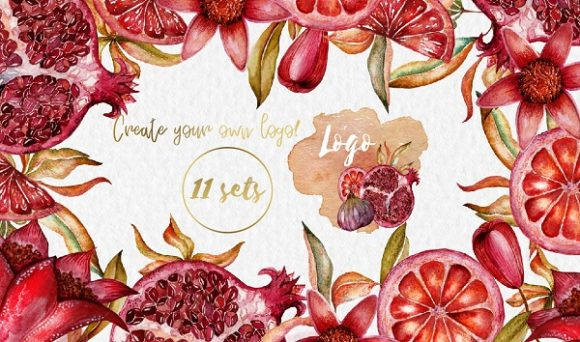 Print on Demand: Floral Collection of Pomegranate Graphic Illustrations By LiterkaEm Store - Image 3