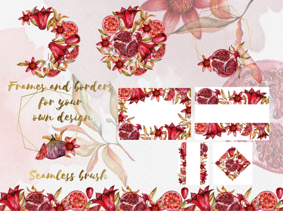 Print on Demand: Floral Collection of Pomegranate Graphic Illustrations By LiterkaEm Store - Image 5