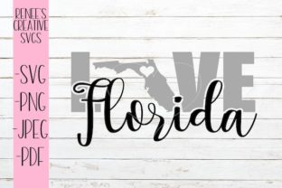 Download Free Florida Love Graphic By Reneescreativesvgs Creative Fabrica for Cricut Explore, Silhouette and other cutting machines.