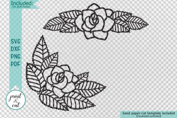 Flower Border Graphic Crafts By Cornelia - Image 2