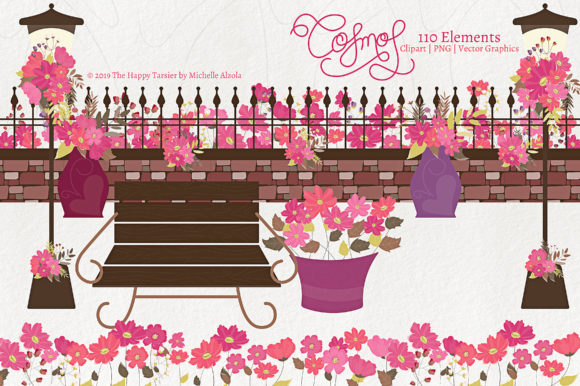 Print on Demand: Flower Clipart Graphic Illustrations By Michelle Alzola