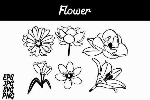 Print on Demand: Flower Lineart Set SVG Vector Image Bundle Graphic Icons By Arief Sapta Adjie