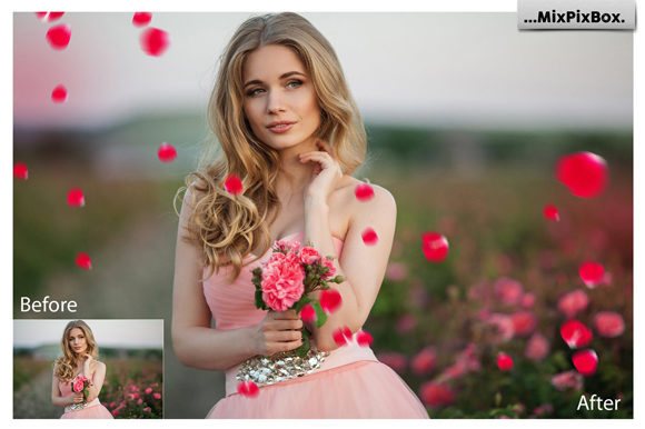 Print on Demand: Flower Petals Photo Overlays Graphic Layer Styles By MixPixBox - Image 2