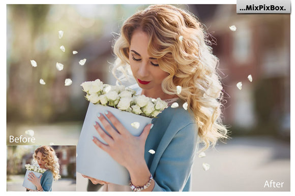Print on Demand: Flower Petals Photo Overlays Graphic Layer Styles By MixPixBox - Image 4