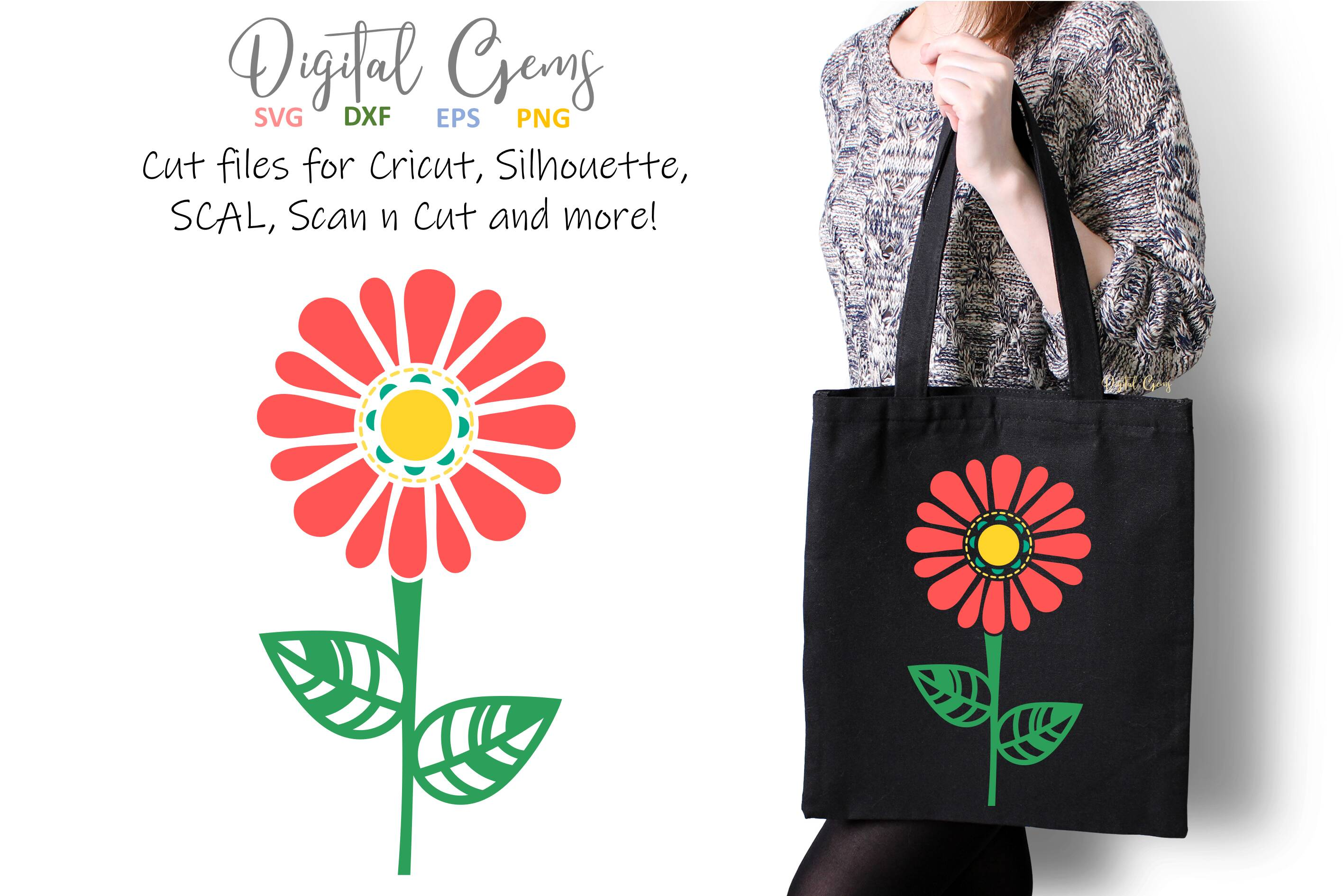 Download Free Flower Graphic By Digital Gems Creative Fabrica SVG Cut Files