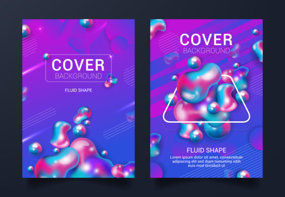 Fluid Cover Book Graphic Graphic Templates By SugarV_Creative