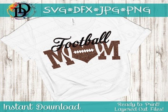 Print on Demand: Football Mom SVG Graphic Crafts By dynamicdimensions