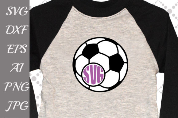 Download Free Football Soccer Monogram Svg Graphic By Prettydesignstudio for Cricut Explore, Silhouette and other cutting machines.
