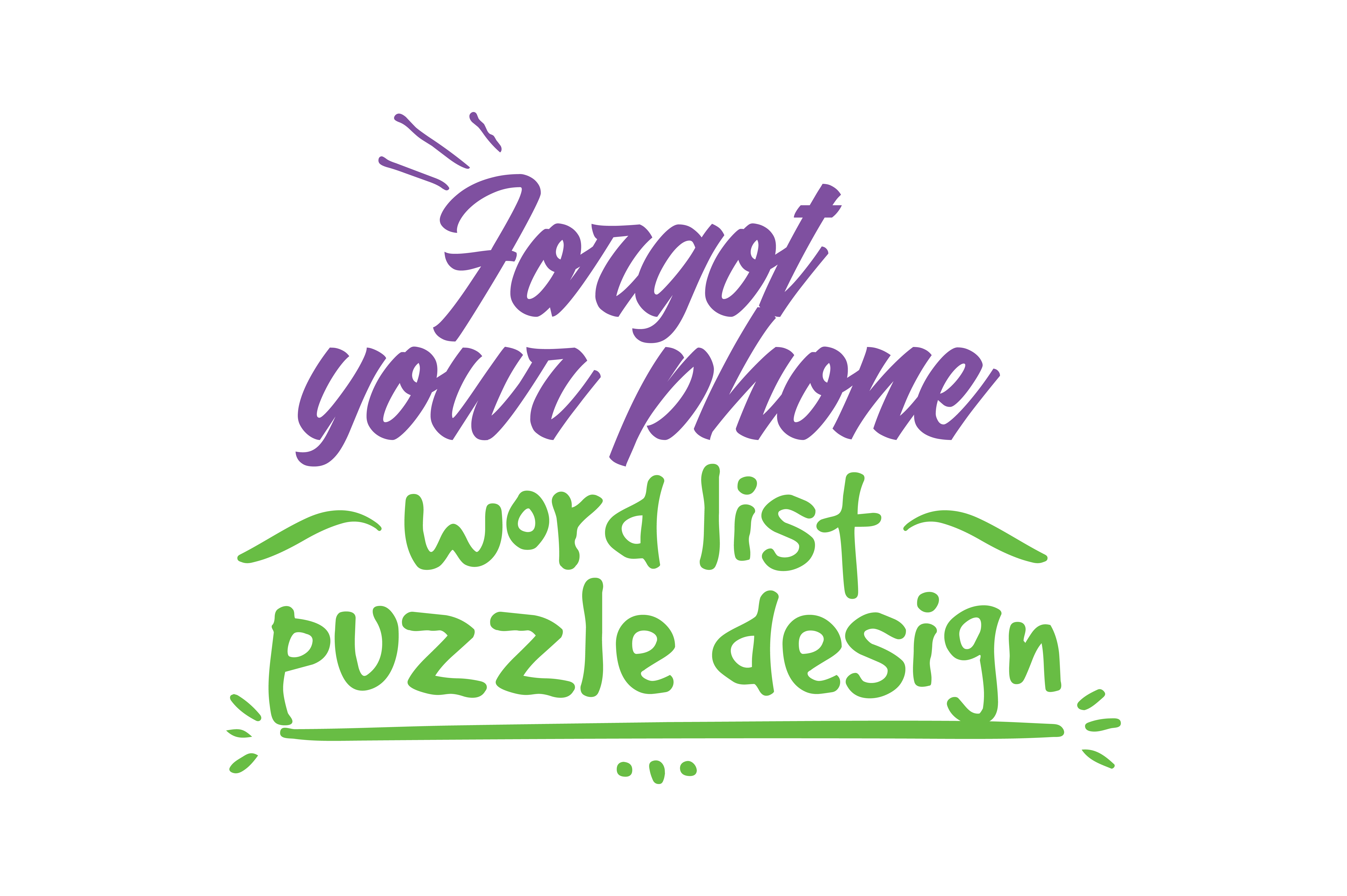 Forgot Your Phone Word List Puzzle Design Quote SVG Cut