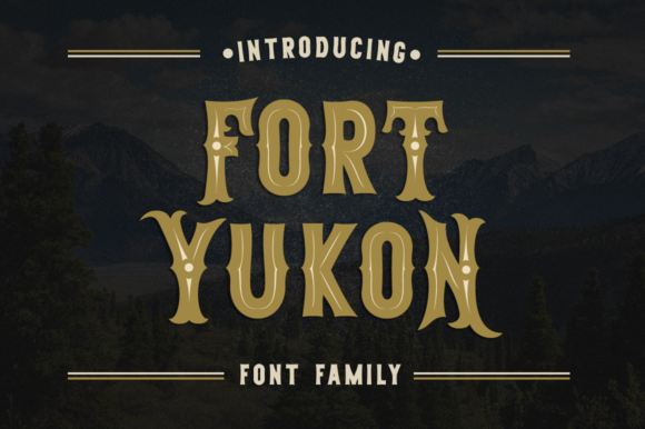 Print on Demand: Fort Yukon Display Font By Pasha Larin - Image 1