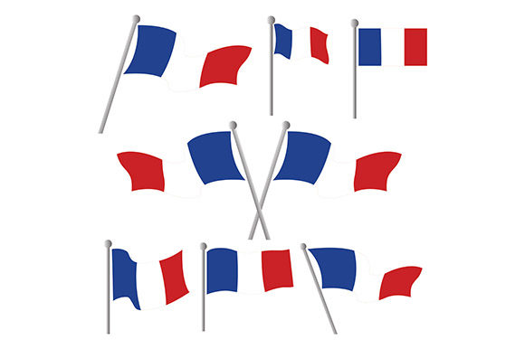 Download Free France Flag Vector Graphic By Rohmar Creative Fabrica for Cricut Explore, Silhouette and other cutting machines.