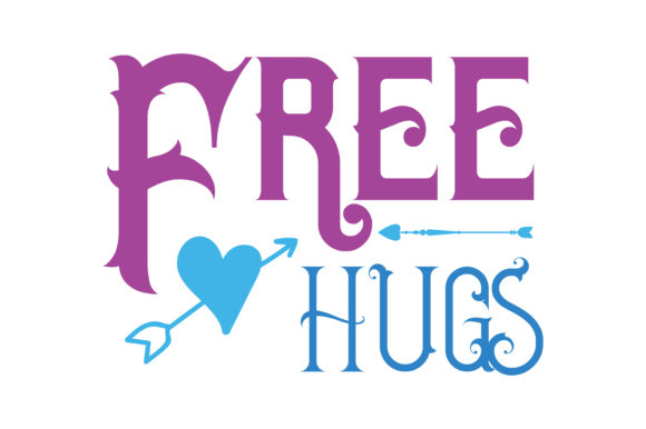 Print on Demand: Free Hugs Quote SVG Cut Graphic Crafts By TheLucky