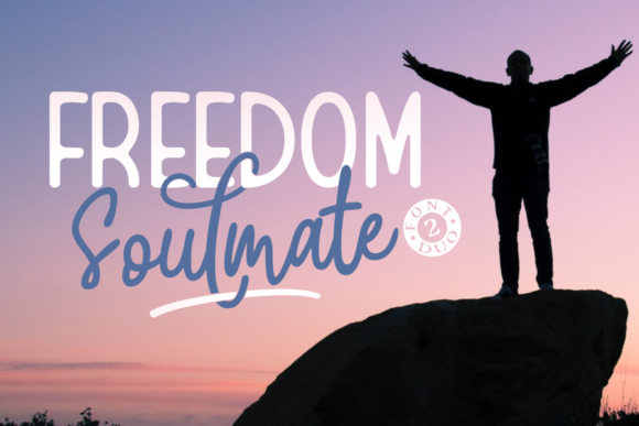 Print on Demand: Freedom Soulmate Duo Display Font By Adyfo (7NTypes)
