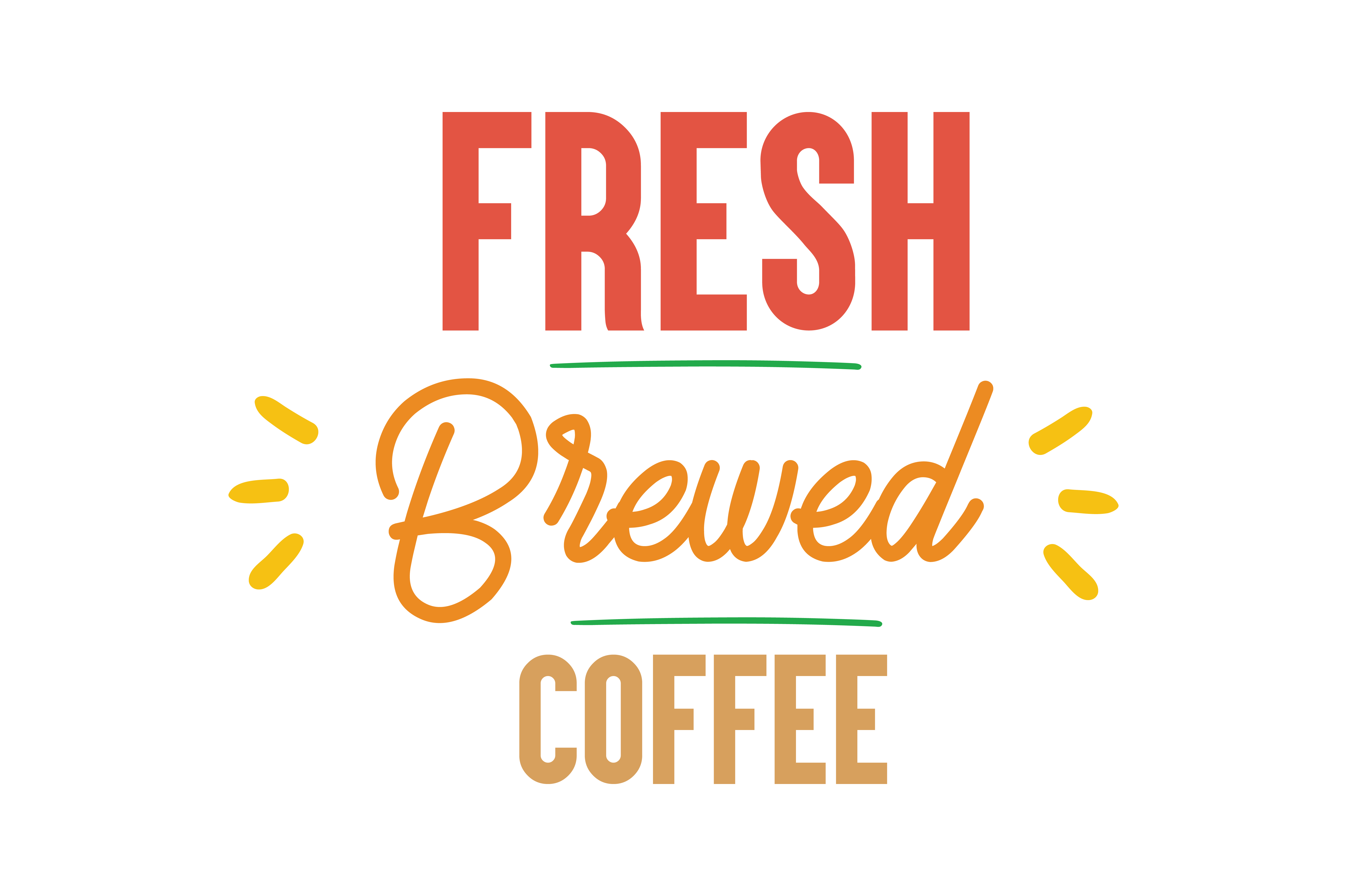 Download Free Fresh Brewed Coffee Quote Svg Cut Graphic By Thelucky Creative for Cricut Explore, Silhouette and other cutting machines.