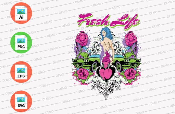 Fresh Live when Race Graphic Illustrations By Skull and Rose
