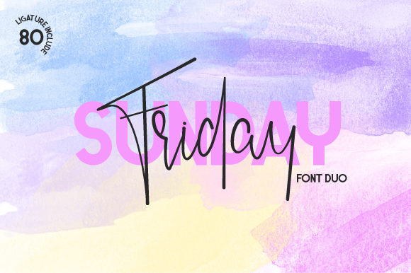 Friday Sunday Duo Font By Fallengraphic Image 1