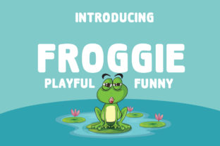 Froggie Font By Boombage