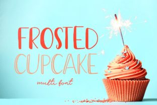 Frosted Cupcake Display Font By Creativeqube Design