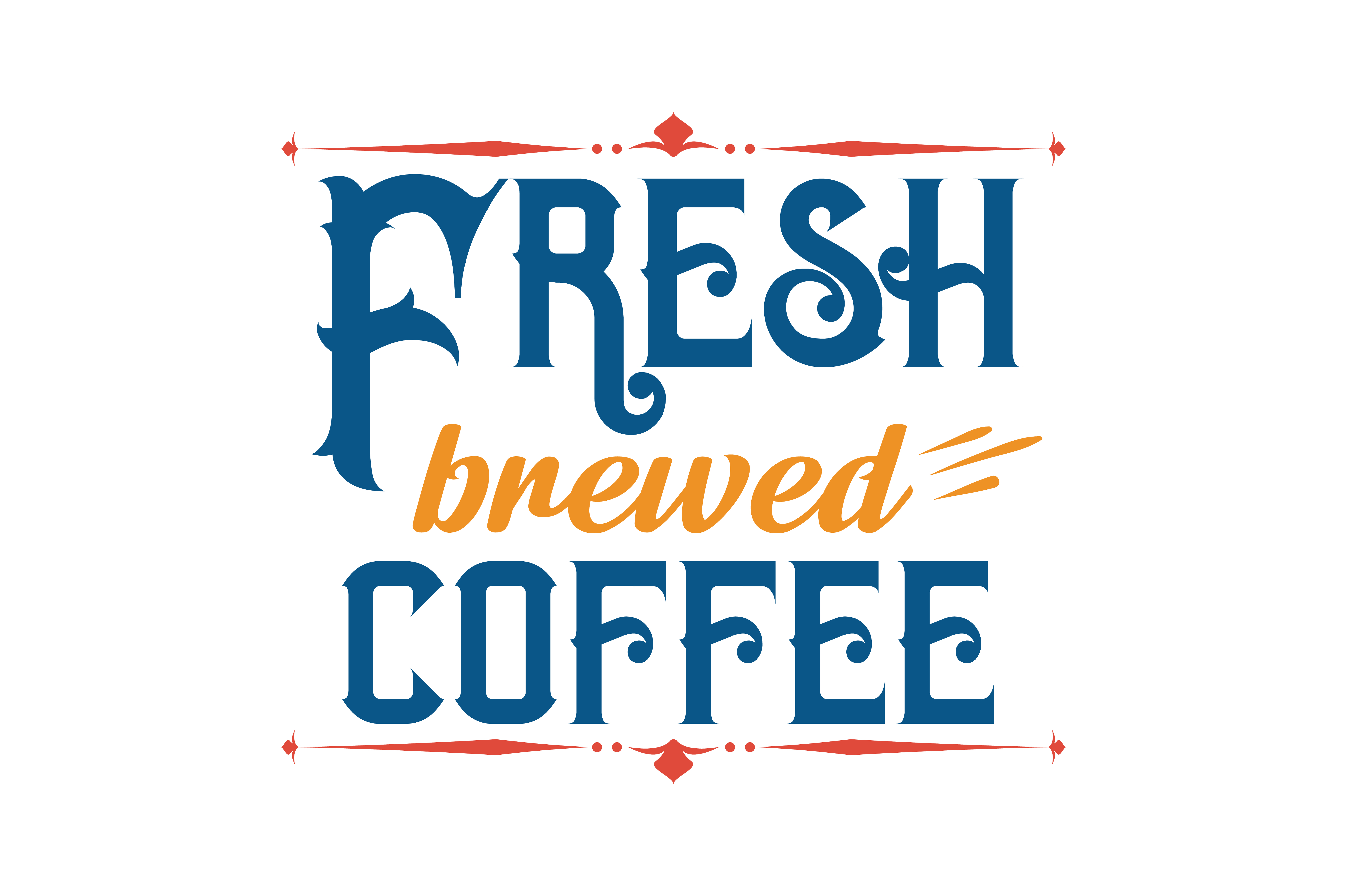 Download Free Frresh Brewed Coffee Quote Svg Cut Graphic By Thelucky for Cricut Explore, Silhouette and other cutting machines.