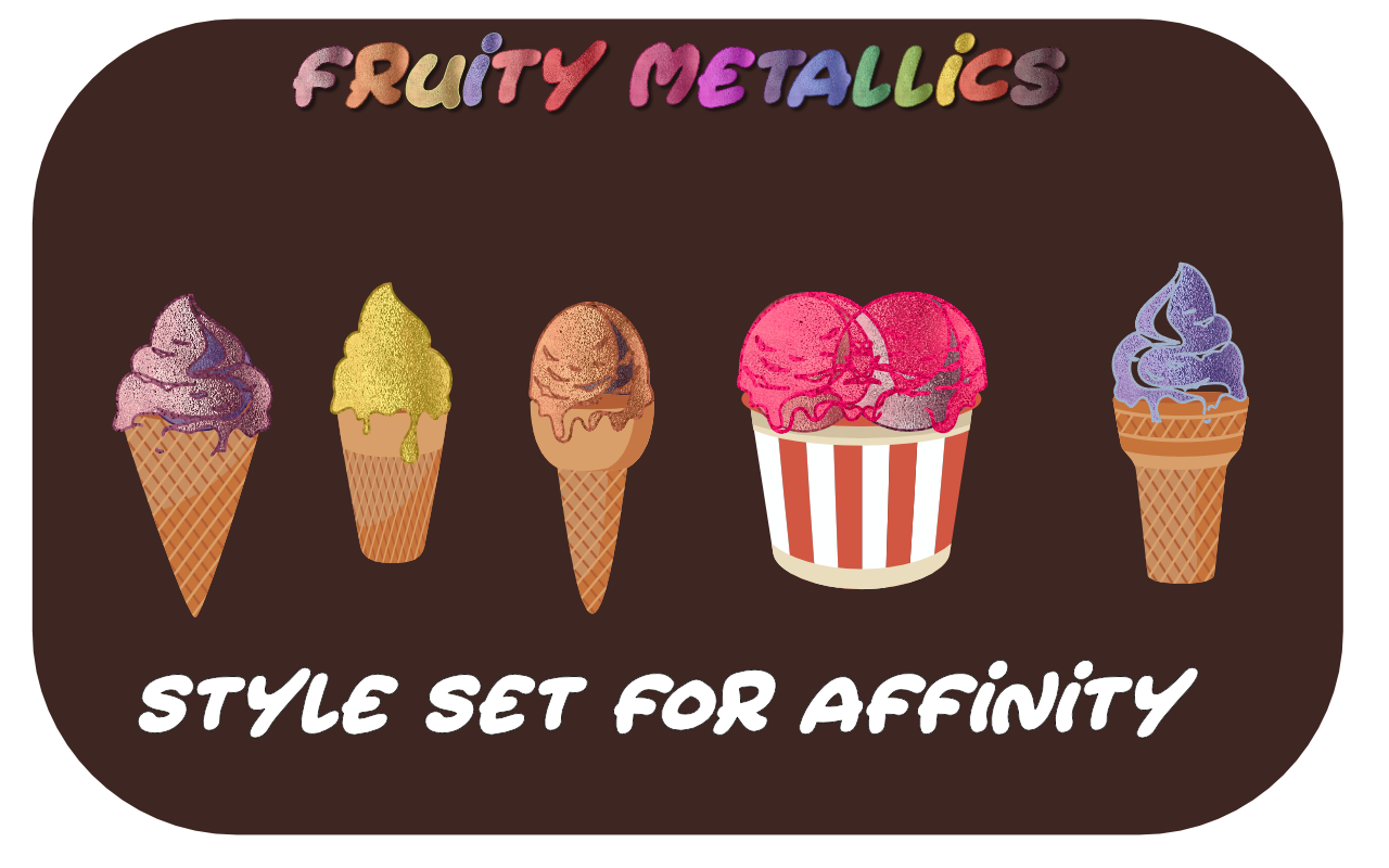 Download Free Fruity Metallics Styles Set For Affinity Graphic By Angela H for Cricut Explore, Silhouette and other cutting machines.