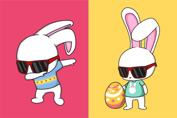 Funkie Bunny SVG Graphic By fadhil figuree Image 2