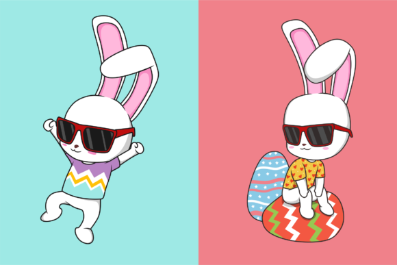 Funkie Bunny SVG Graphic By fadhil figuree Image 3