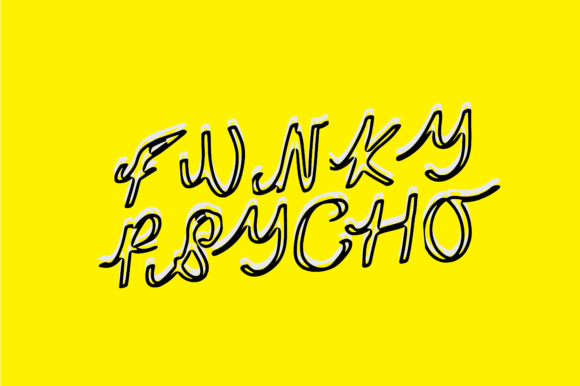 Print on Demand: Funky Psycho Script & Handwritten Font By GraphicsBam Fonts