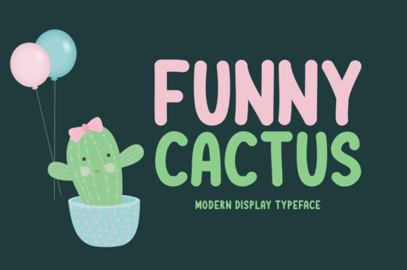 Print on Demand: Funny Cactus Display Font By Shattered Notion