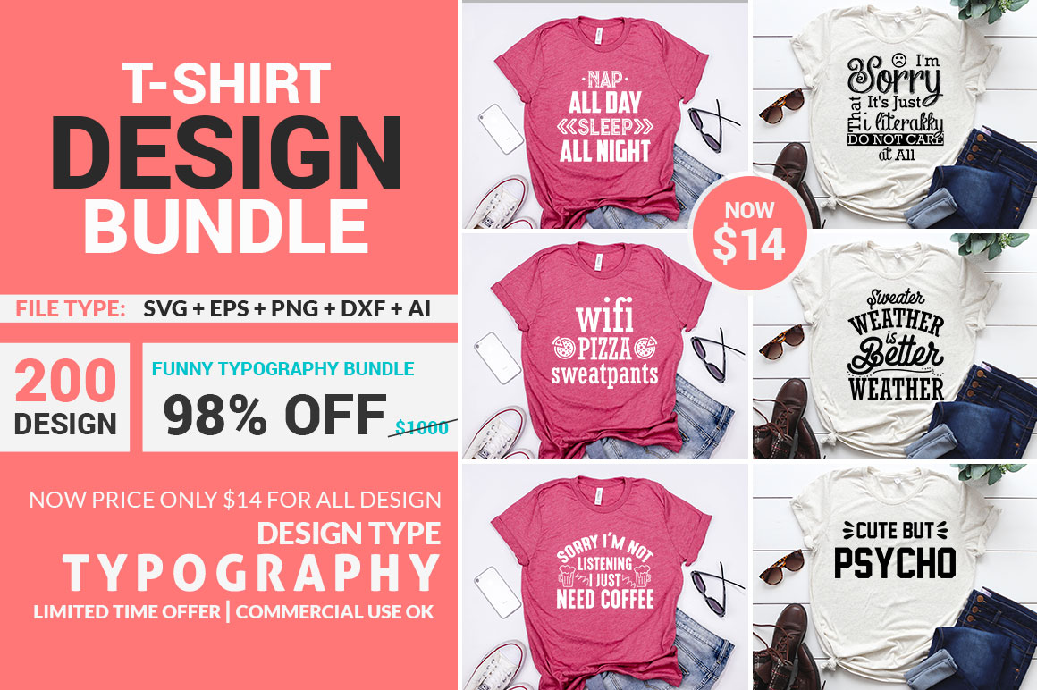 Download Free Funny Typography T Shirt Bundle Grafik Von Subornastudio for Cricut Explore, Silhouette and other cutting machines.