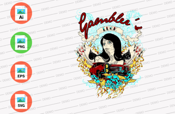 Gambler's Graphic Illustrations By Skull and Rose