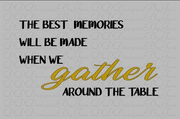Download Free Gather Around The Table Graphic By Dddesigns Creative Fabrica for Cricut Explore, Silhouette and other cutting machines.