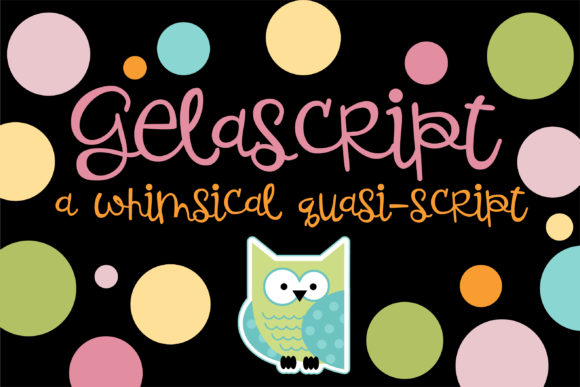 Print on Demand: Gelascript Script & Handwritten Font By Illustration Ink
