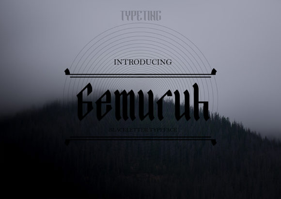 Print on Demand: Gemuruh Blackletter Font By Typeting Studio