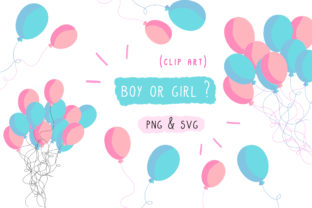 Gender Reveal Party Graphic By Inkclouddesign