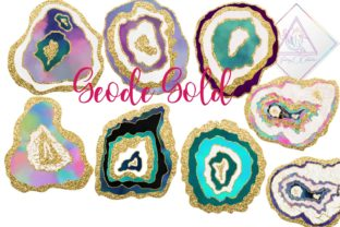 Geode Gold Clipart Graphic By fantasycliparts