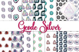 Geode Silver Digital Paper Graphic By fantasycliparts