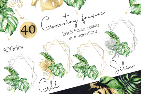 Geometry Tropical Frames Creator Graphic By EvgeniiasArt Image 2
