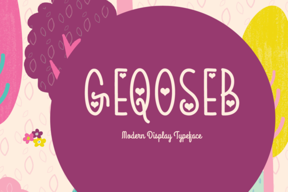 Print on Demand: Geqoseb Display Font By Shattered Notion