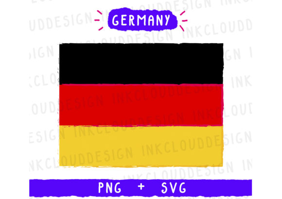 Print on Demand: Germany Flag Graphic Icons By Inkclouddesign